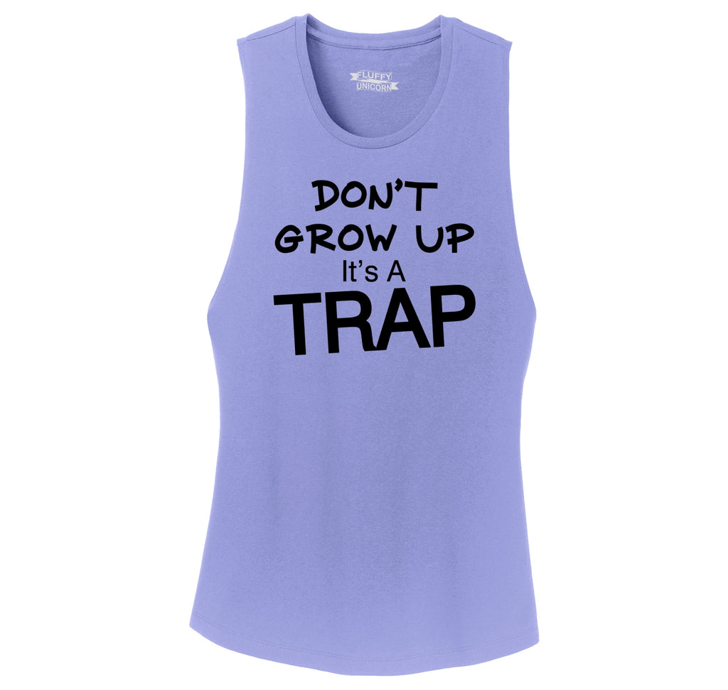 Don't Grow Up It's A Trap Funny Birthday Gift Tee Ladies Festival Tank Top