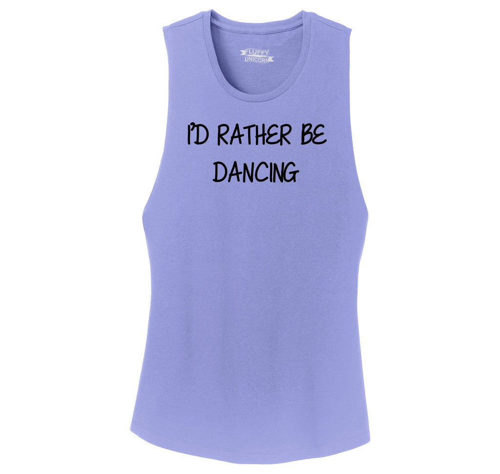 I'd Rather Be Dancing Ladies Festival Tank Top