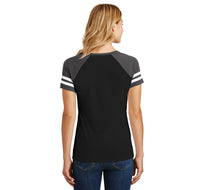 Camel Towing Ladies Short Sleeve Game V-Neck Shirt