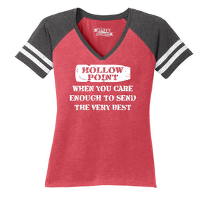 Hollow Point Ladies Short Sleeve Game V-Neck Shirt