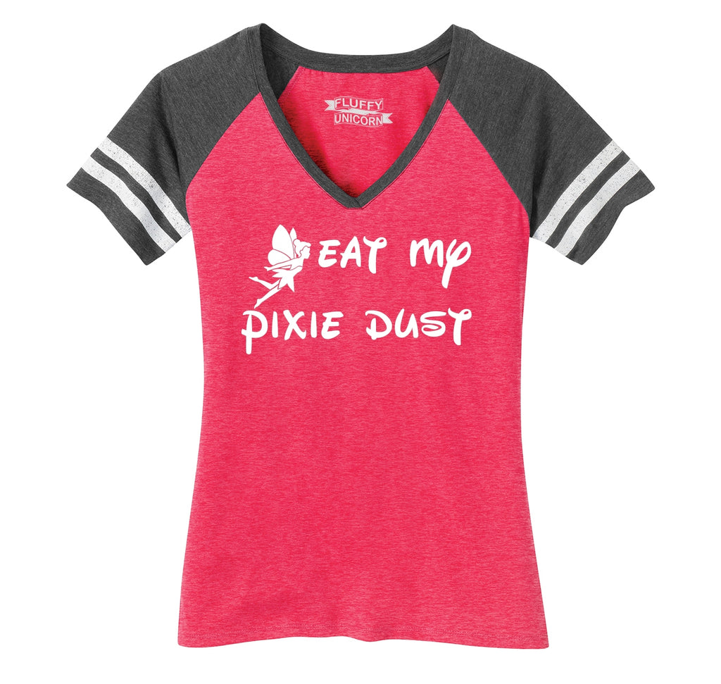 Eat My Pixie Dust Ladies Short Sleeve Game V-Neck Shirt