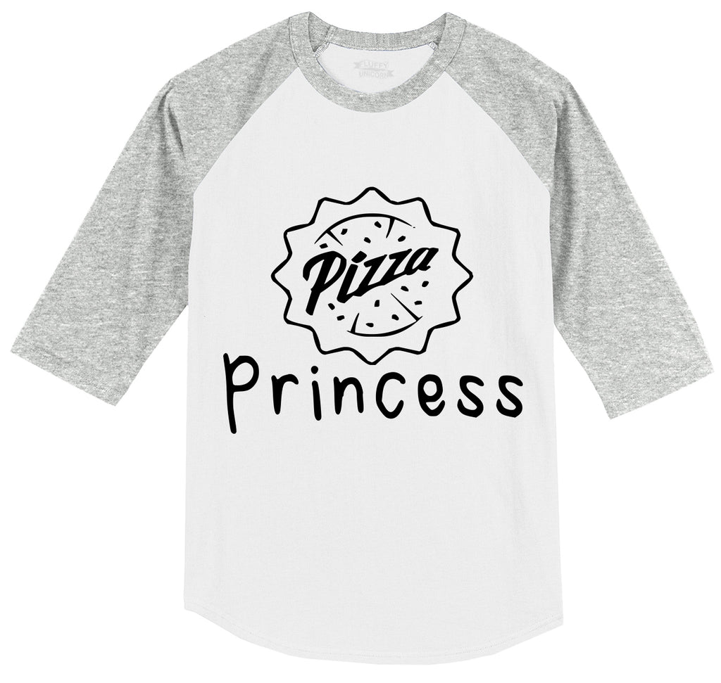 Pizza Princess Mens 3/4 Sleeve Raglan Jersey