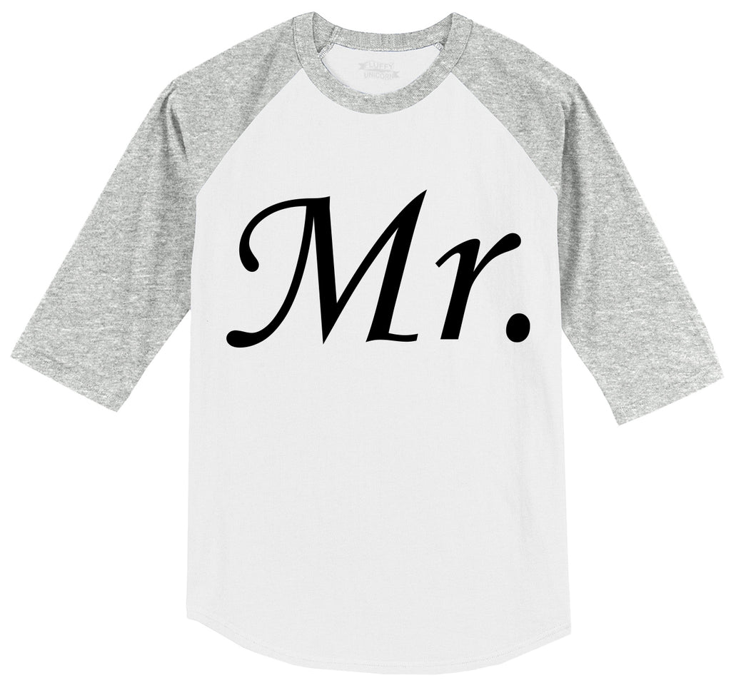 Mr. Groom Wedding Gift Mens 3/4 Sleeve Raglan Jersey