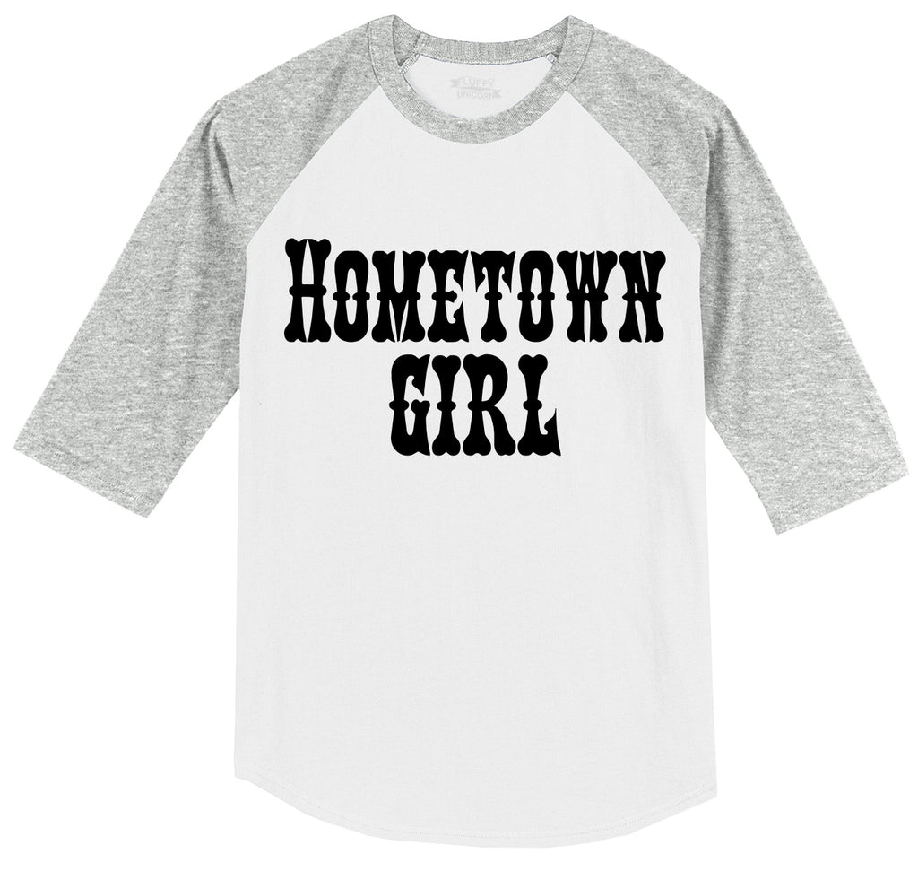 Hometown Girl Mens 3/4 Sleeve Raglan Jersey