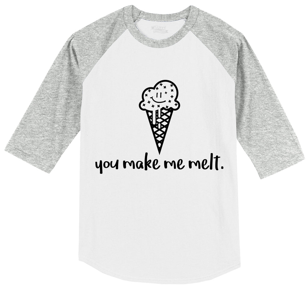 You Make Me Melt Mens 3/4 Sleeve Raglan Jersey