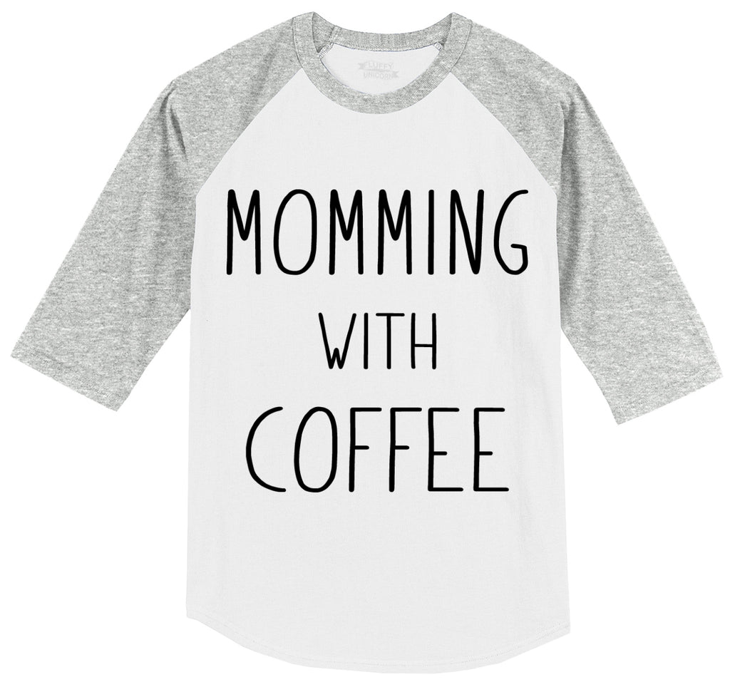 Momming With Coffee Mens 3/4 Sleeve Raglan Jersey