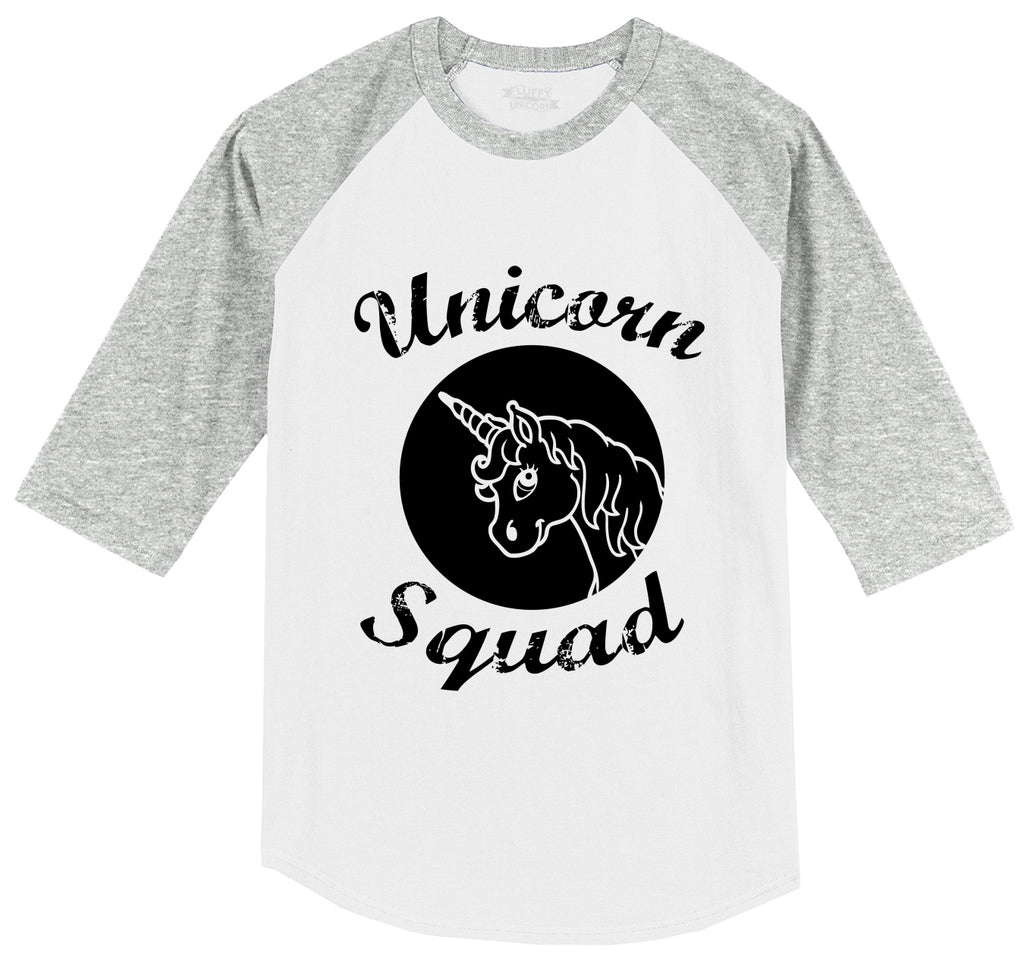 Unicorn Squad Cute Team Bridesmaids Dance Crew Shirt Mens 3/4 Sleeve Raglan Jersey
