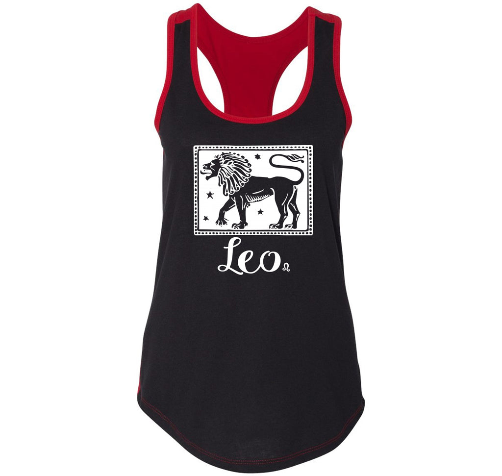Horoscope Leo Ladies Colorblock Racerback Tank Top