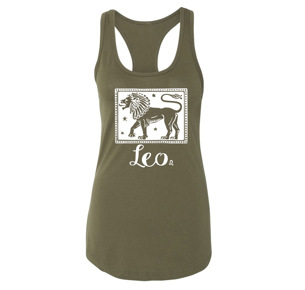 Horoscope Leo Ladies Racerback Tank Top
