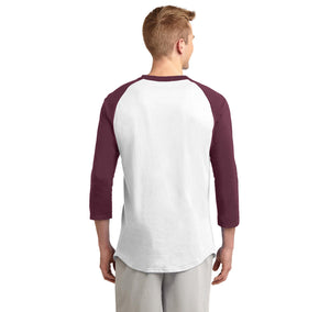 What The F Stop Mens 3/4 Sleeve Raglan Jersey