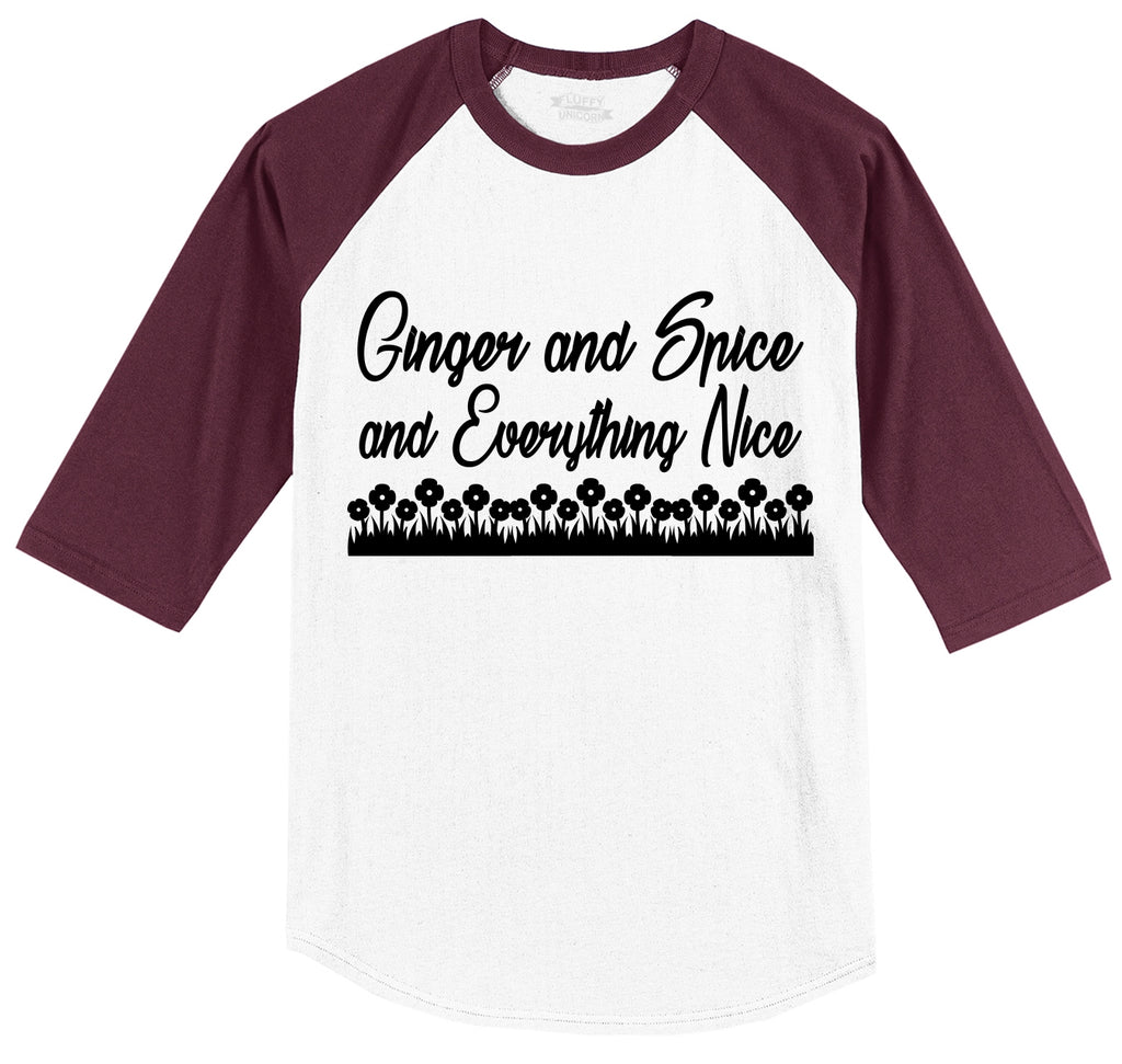 Ginger and Spice and Everything Nice Mens 3/4 Sleeve Raglan Jersey