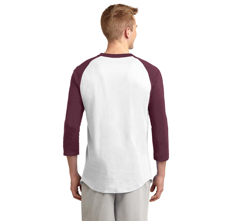 College Mens 3/4 Sleeve Raglan Jersey