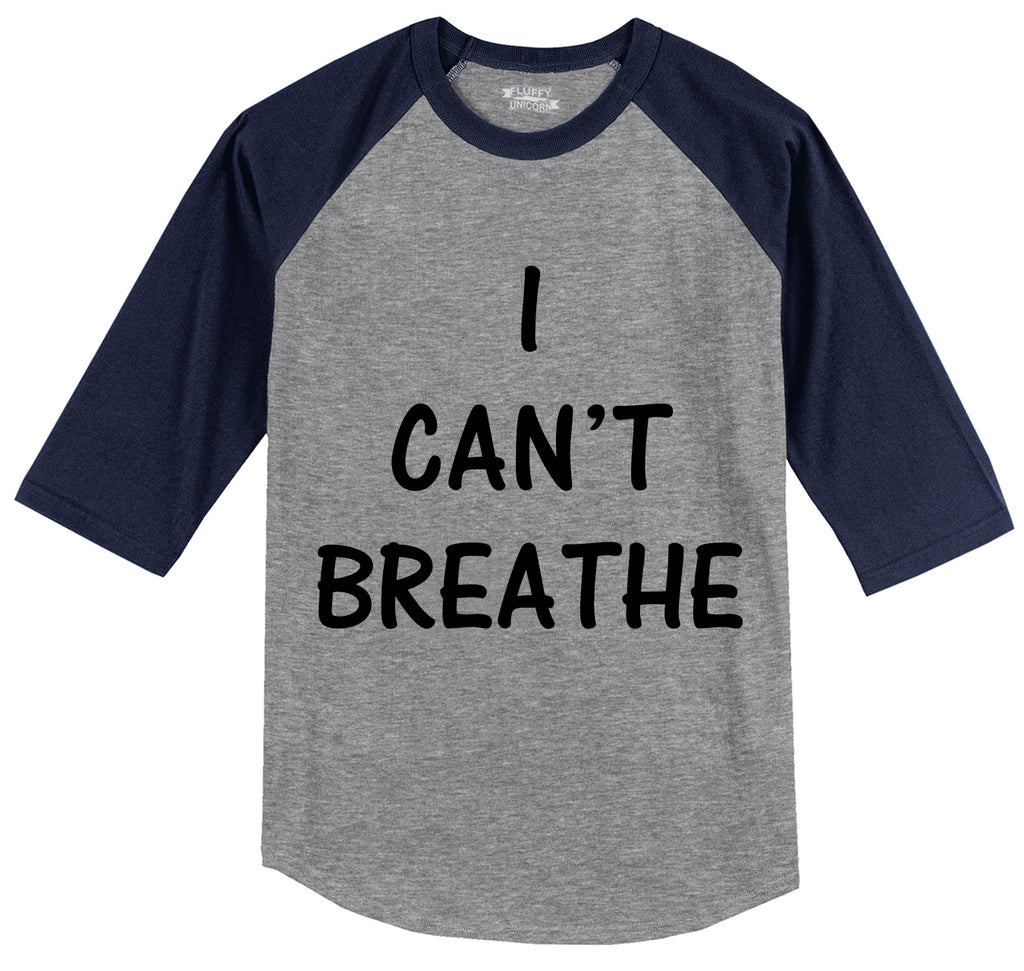 I Can't Breathe Mens 3/4 Sleeve Raglan Jersey