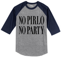 No Pirlo No Party Mens 3/4 Sleeve Raglan Jersey