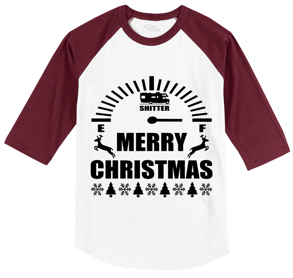 Merry Christmas Shitters Full Mens 3/4 Sleeve Raglan Jersey