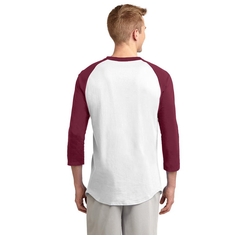 Man Woman GEEK Mens 3/4 Sleeve Raglan Jersey