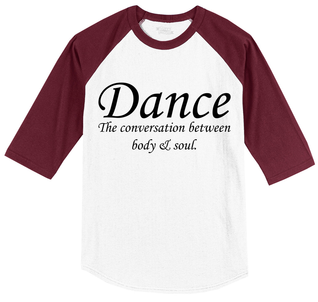 Dance The Conversation Between Body and Soul Mens 3/4 Sleeve Raglan Jersey