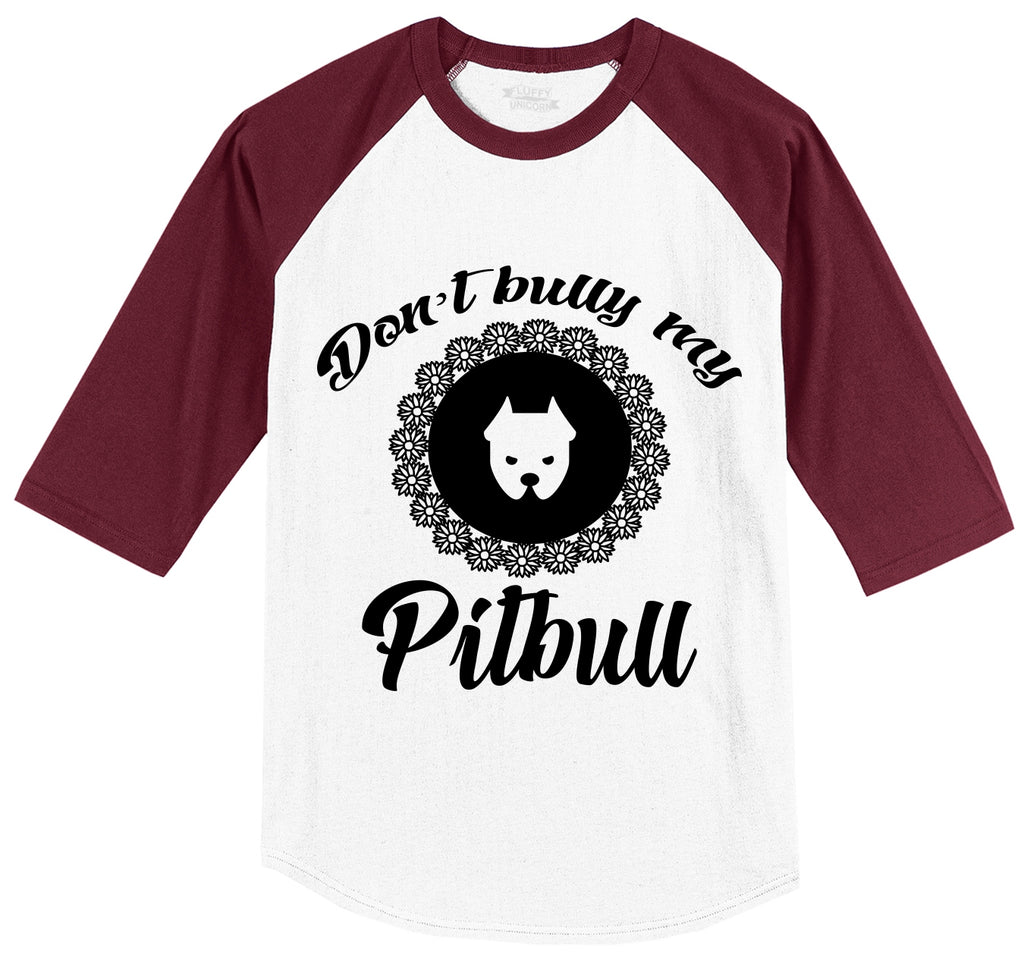 Don't Bully My Pitbull Mens 3/4 Sleeve Raglan Jersey