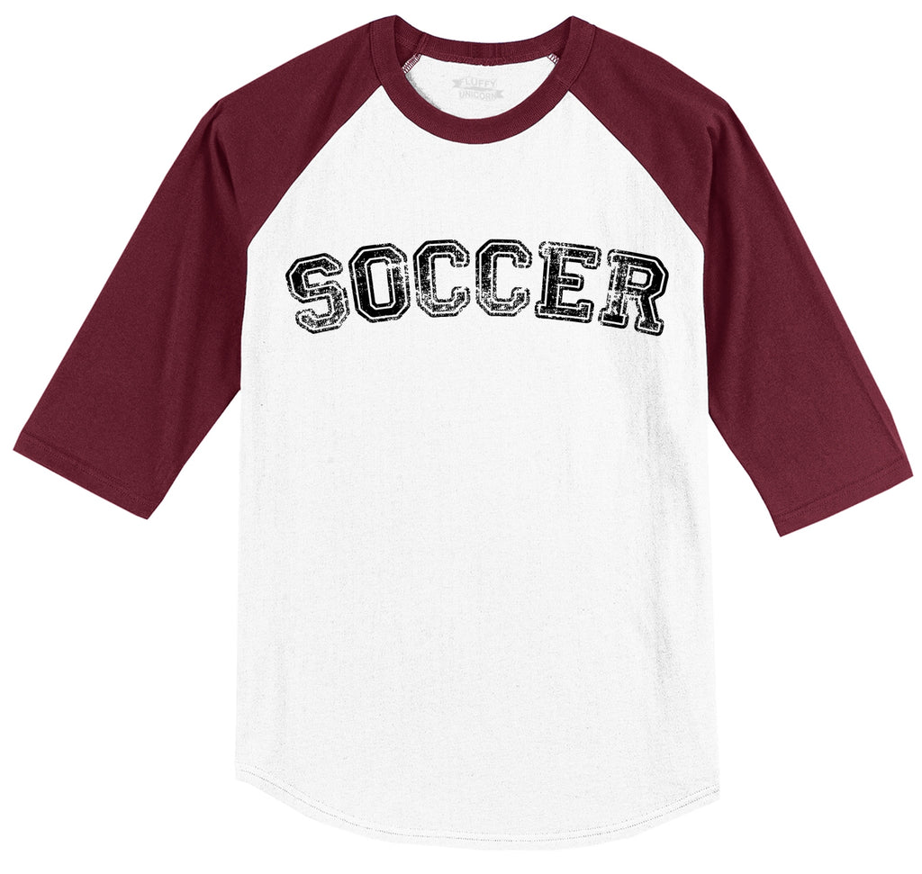 Soccer Sports Goalie Shirt Mens 3/4 Sleeve Raglan Jersey