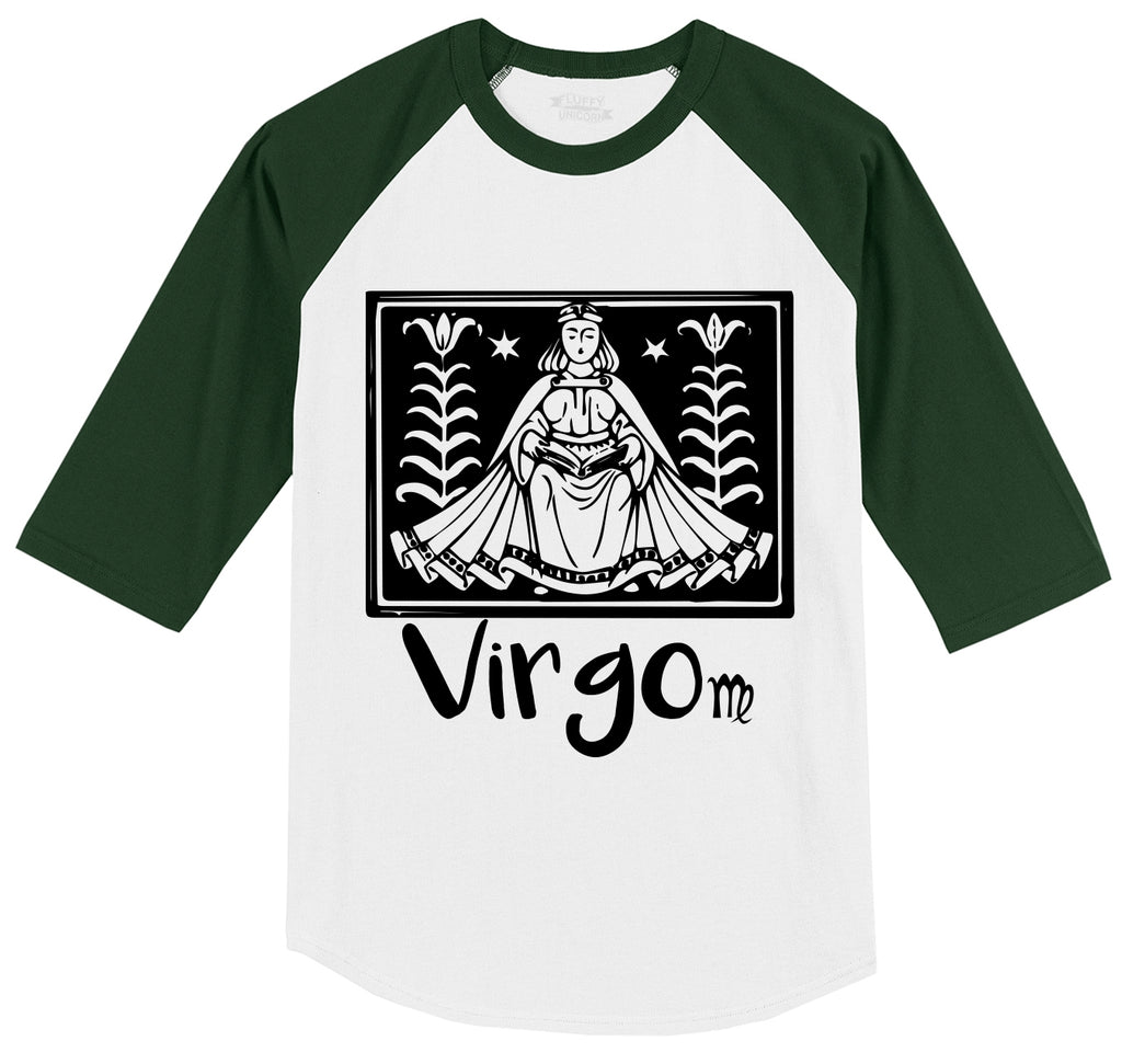 Virgo Horoscope Mens 3/4 Sleeve Raglan Jersey