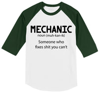 Mechanic Someone Who Fixes Shirt You Can't Mens 3/4 Sleeve Raglan Jersey