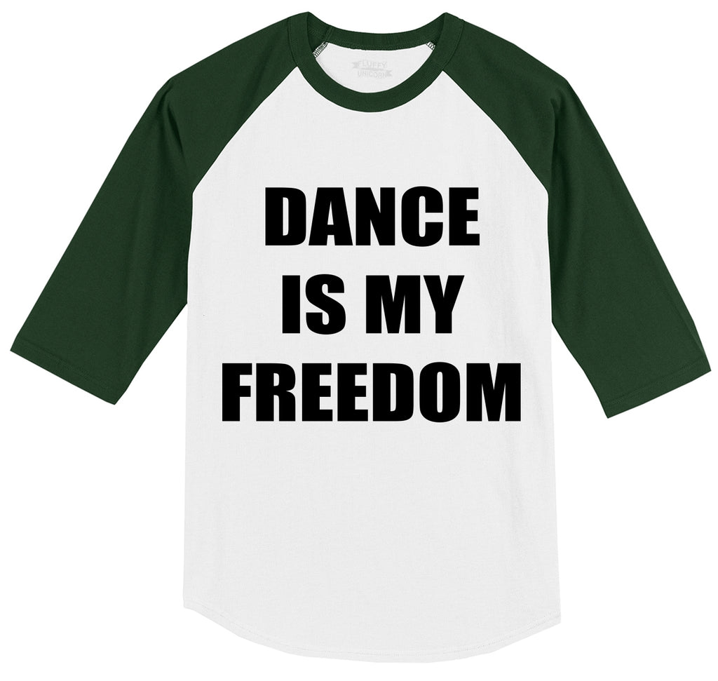 Dance Is My Freedom Mens 3/4 Sleeve Raglan Jersey