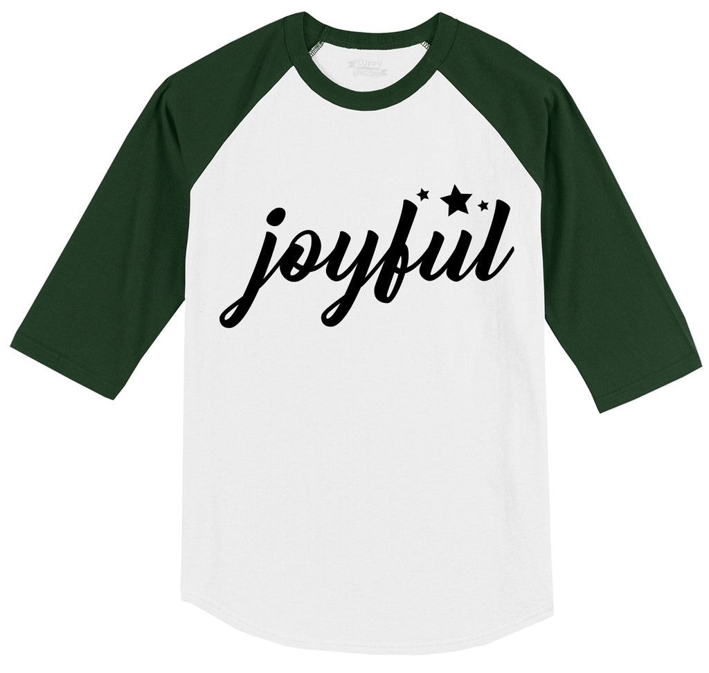 Joyful Mens 3/4 Sleeve Raglan Jersey