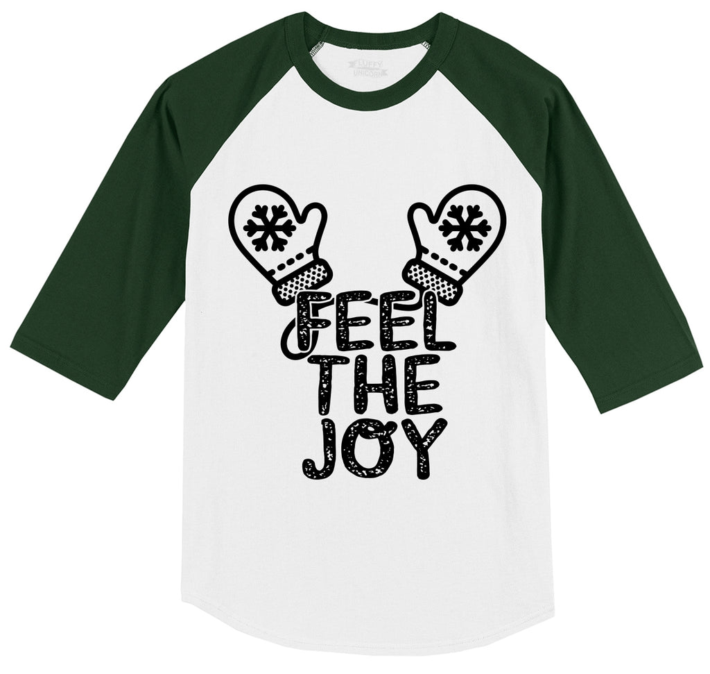 Feel The Joy Mens 3/4 Sleeve Raglan Jersey
