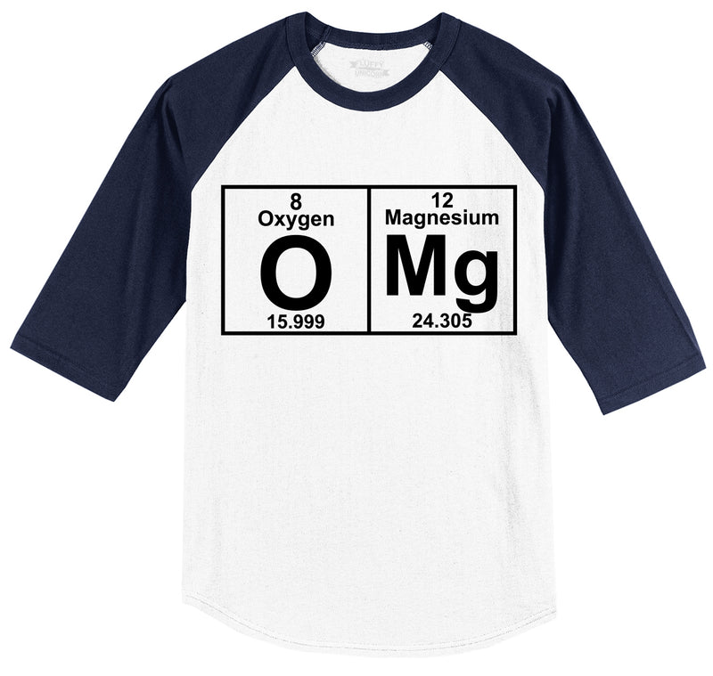 OMG Periodic Table Of Elements Mens 3/4 Sleeve Raglan Jersey