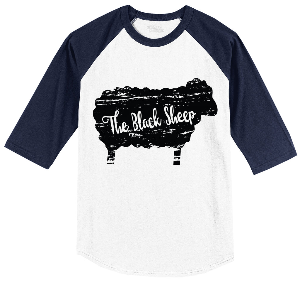 The Black Sheep Mens 3/4 Sleeve Raglan Jersey
