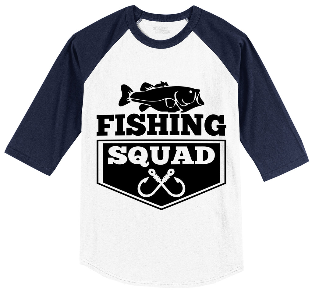 Fishing Squad Mens 3/4 Sleeve Raglan Jersey