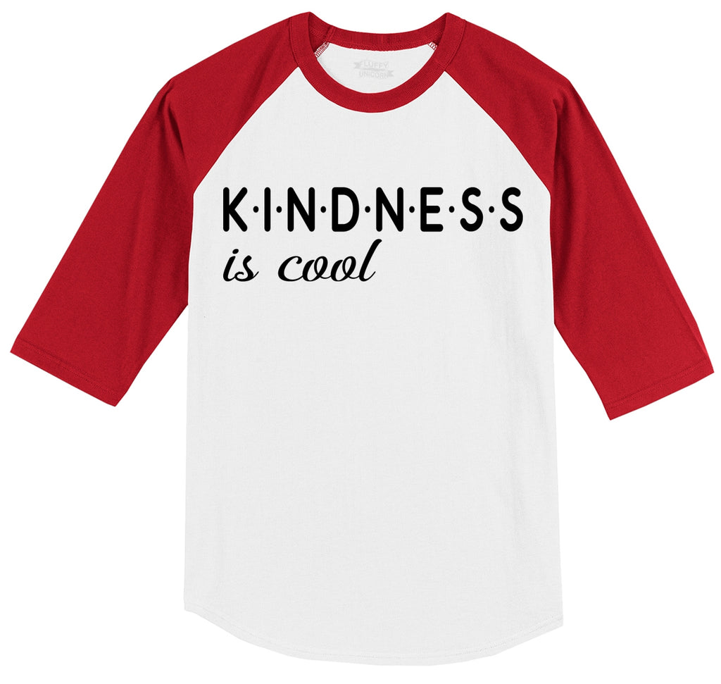 Kindness Is Cool Mens 3/4 Sleeve Raglan Jersey