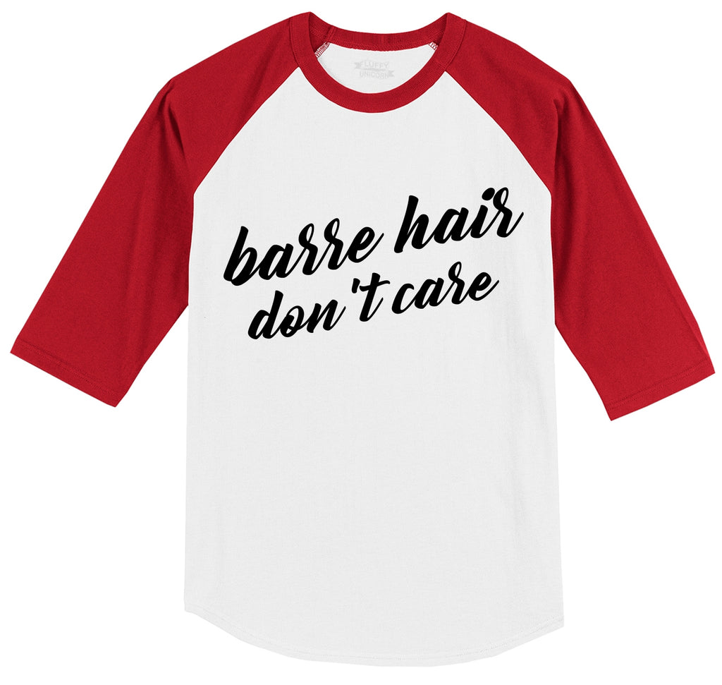 Barre Hair Don't Care Mens 3/4 Sleeve Raglan Jersey