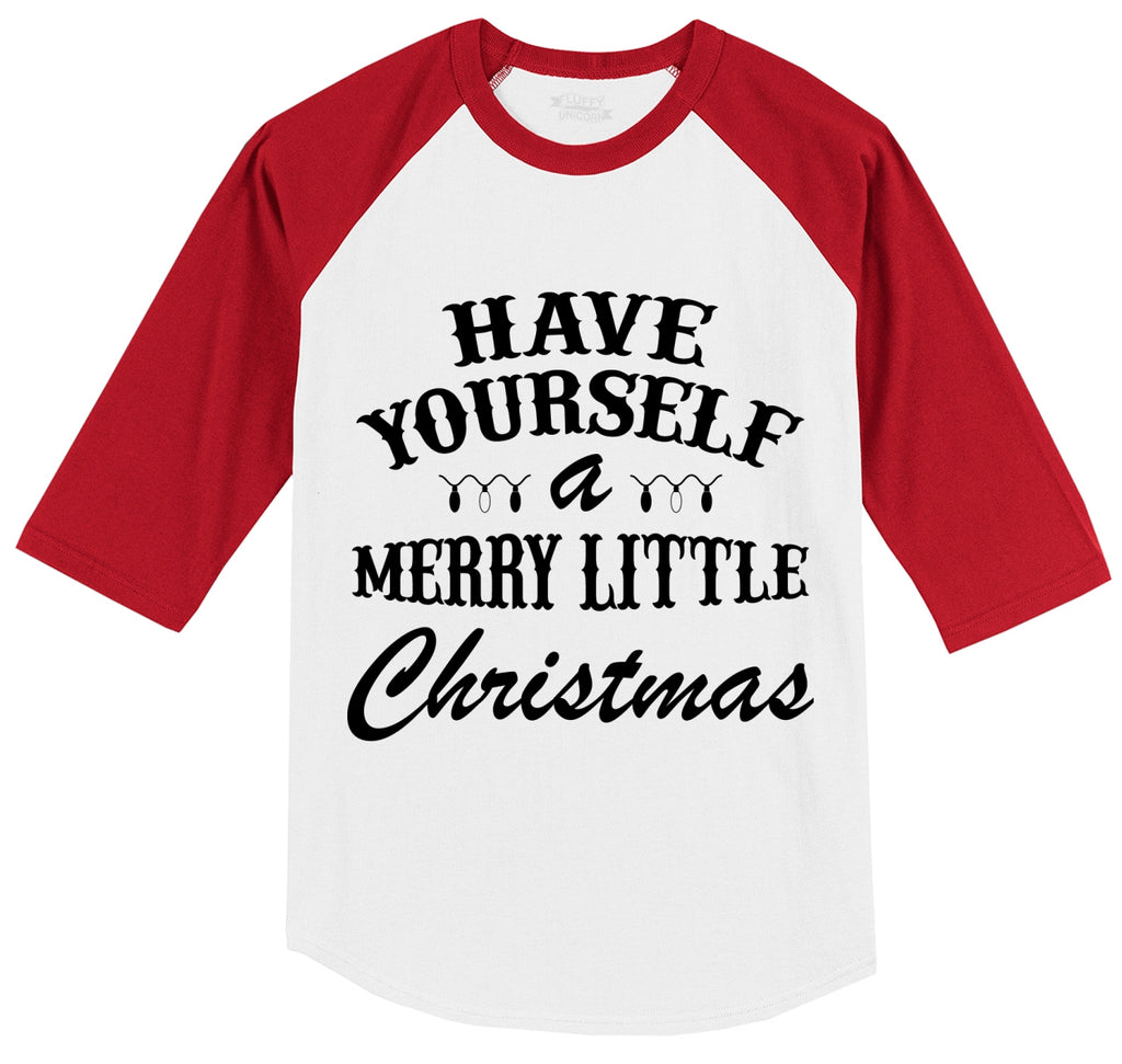 Have Yourself A Merry Little Christmas Mens 3/4 Sleeve Raglan Jersey