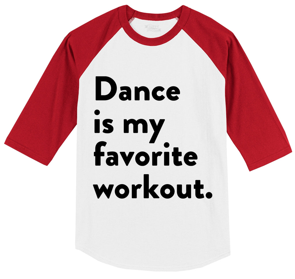 Dance Is My Favorite Workout Mens 3/4 Sleeve Raglan Jersey