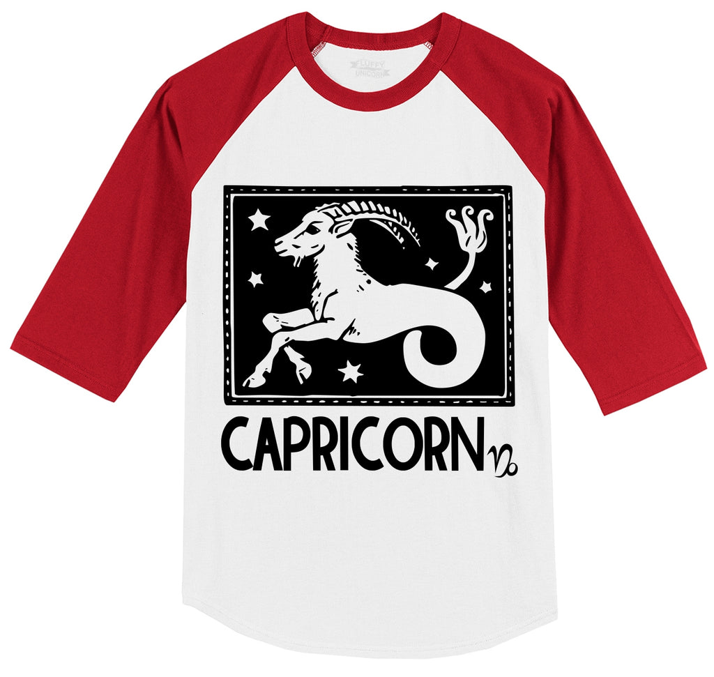 Capricorn Horoscope Mens 3/4 Sleeve Raglan Jersey
