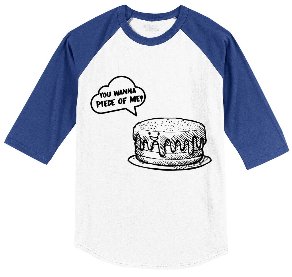 You Wanna Piece Of Me Mens 3/4 Sleeve Raglan Jersey