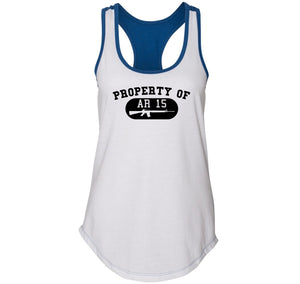 Property Of AR15 Shirt Ladies Colorblock Racerback Tank Top