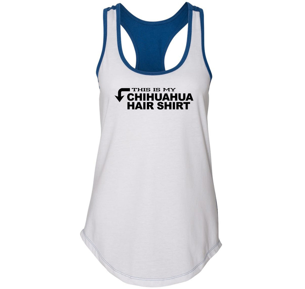 This Is My Chihuahua Hair Shirt Ladies Colorblock Racerback Tank Top