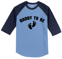 Daddy To Be Mens 3/4 Sleeve Raglan Jersey