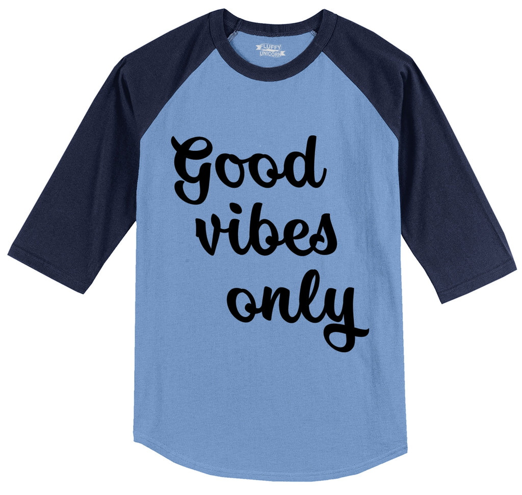 Good Vibes Only Mens 3/4 Sleeve Raglan Jersey