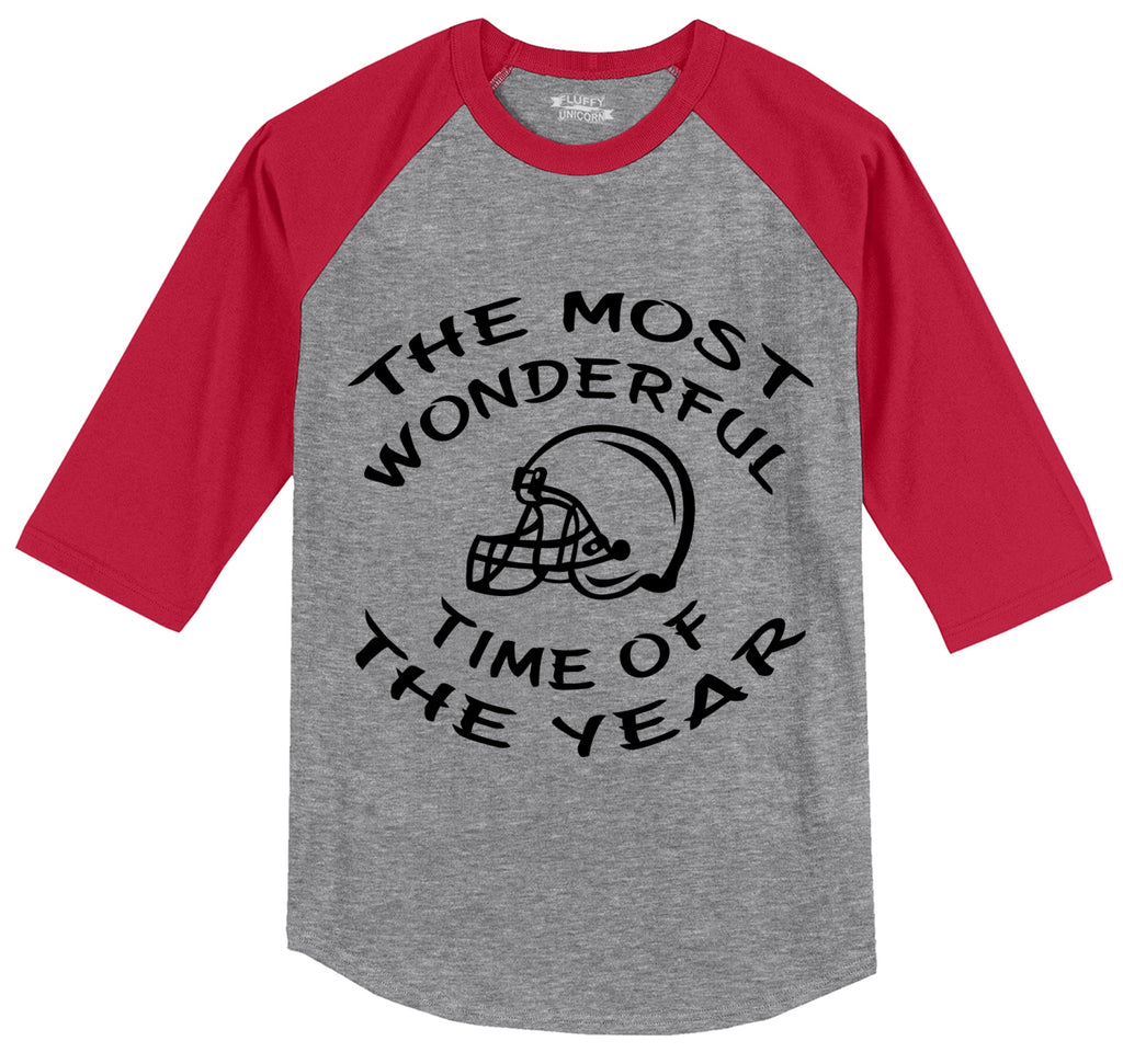 The Most Wonderful Time Of The Year Football Mens 3/4 Sleeve Raglan Jersey
