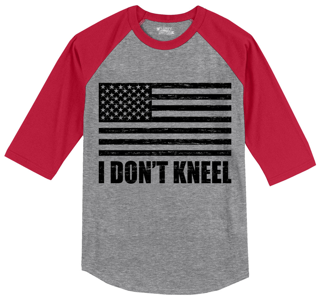 I Don't Kneel Mens 3/4 Sleeve Raglan Jersey