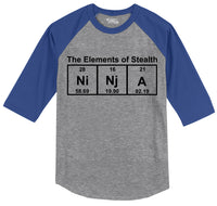 Ninja The Elements Of Stealth Mens 3/4 Sleeve Raglan Jersey