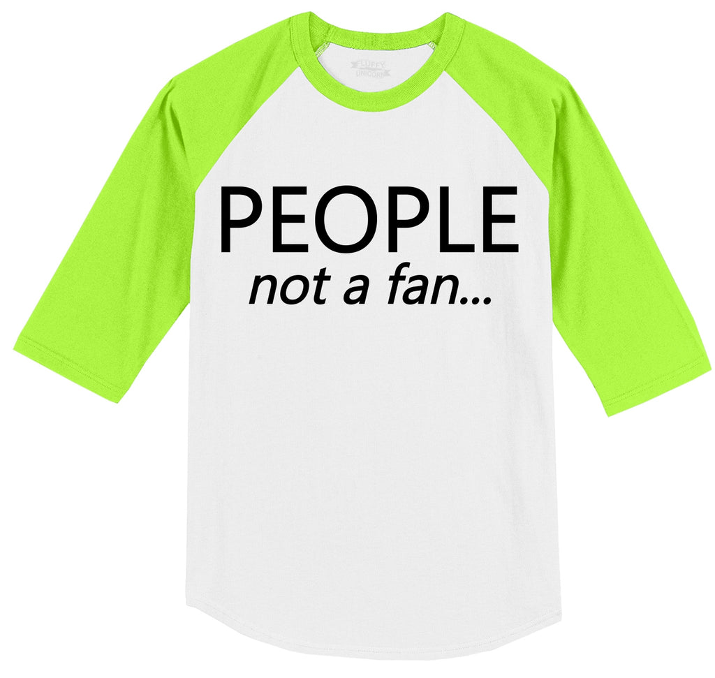 People Not A Fan Mens 3/4 Sleeve Raglan Jersey