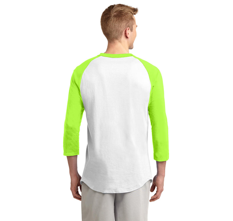 Name The Triangles Geoffrey Frederick Eugene Mens 3/4 Sleeve Raglan Jersey