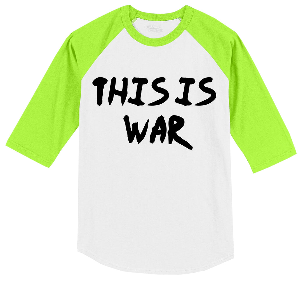 This Is War Anti Trump Political Protest Tee Mens 3/4 Sleeve Raglan Jersey