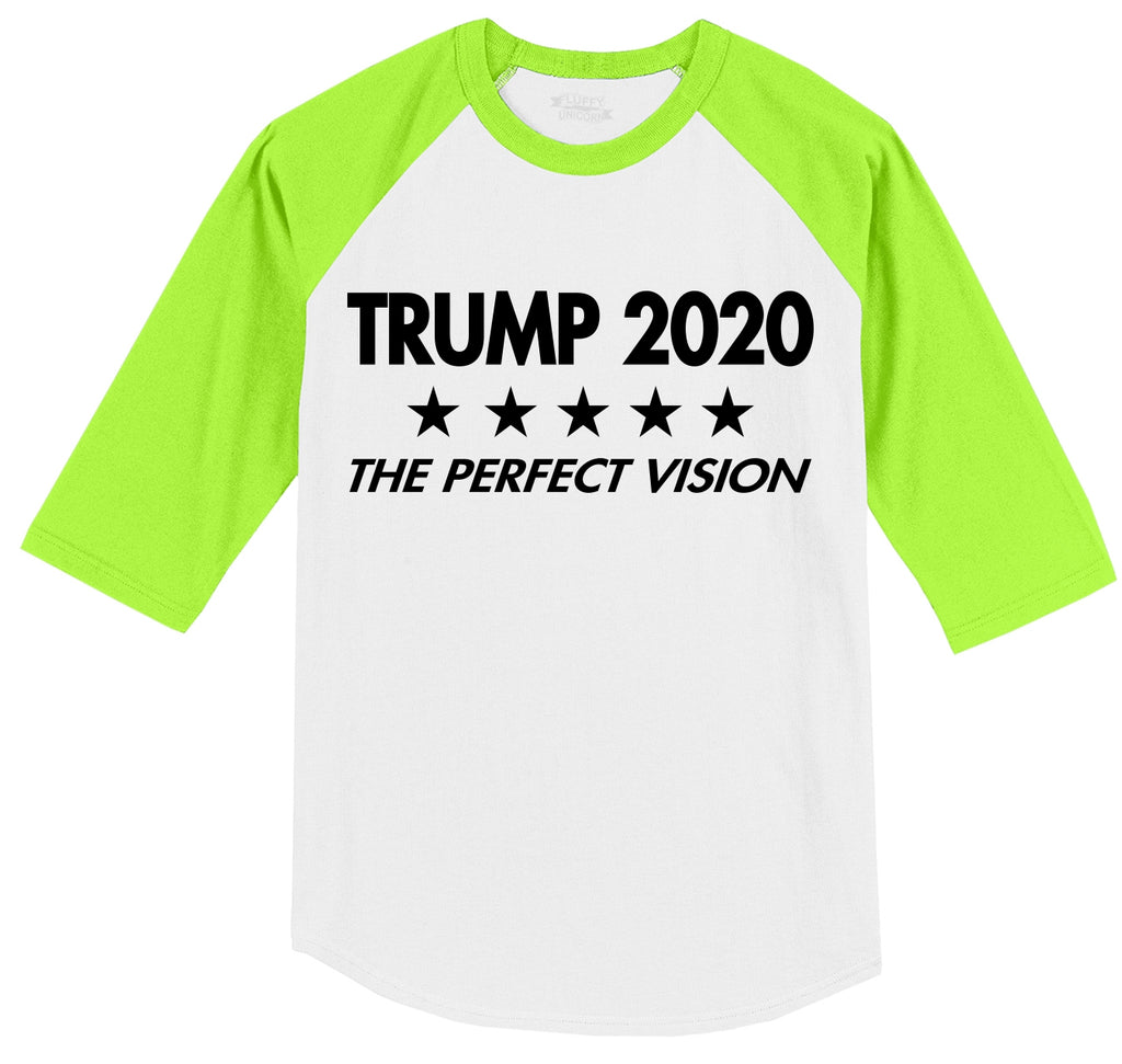 Trump 2020 The Perfect Vision Mens 3/4 Sleeve Raglan Jersey