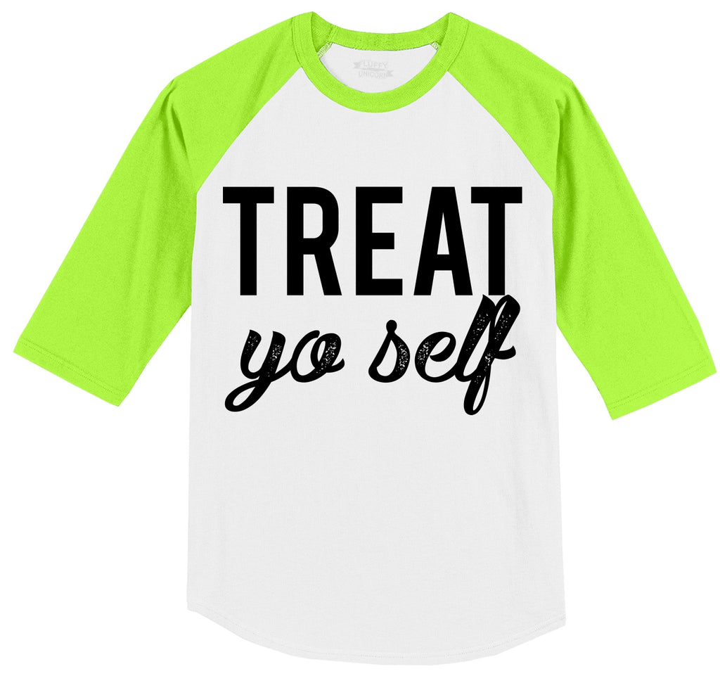 Treat Yo Self Mens 3/4 Sleeve Raglan Jersey