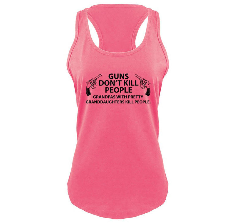 Guns Don't Kill People Grandpas Ladies Gathered Racerback Tank Top